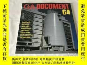 二手書博民逛書店GA罕見Document 64(英、日、雙語)Y8204 世界建築 世界建築