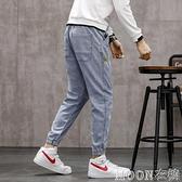 牛仔褲男 季男士牛仔褲韓版潮流寬鬆大碼休閒長褲子男裝潮牌束腳九分褲 快速出貨