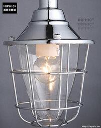 INPHIC- 工業風格復古吊燈美式創意咖啡館酒吧吧台鍋蓋鳥籠單頭吊燈-D款_S197C