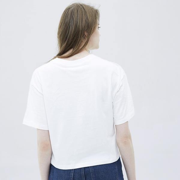 Gap女裝 Gap x Snoopy 史努比系列純棉落肩袖T恤 685727-白色