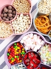 干果盒果盤家用創意分格帶蓋過年水果客廳茶幾瓜子現代塑料糖果盤 時尚潮流