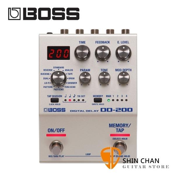 Boss DD-200 數位延遲效果器 Digital Delay 原廠公司貨 一年保固 DD200