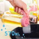 廚房用品 玻璃防漏油壺570ml 醬料瓶...