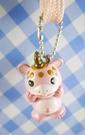 【震撼精品百貨】日本精品百貨-手機吊飾/鎖圈-快獸系列-布斯卡粉