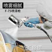 噴漆槍-藤原噴槍氣動油漆噴槍1.5上下油壺乳膠漆噴塗機汽車塗料噴漆工具 雙十二免運WD