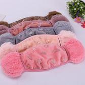 加厚護耳保暖口罩女冬季時尚韓範口耳罩防風透氣可清洗易呼吸防寒【黑色地帶】