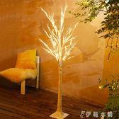 白樺樹LED彩燈ins網紅臥室布置浪漫房間裝飾燈節日發光圣誕樹裝飾 伊鞋本鋪