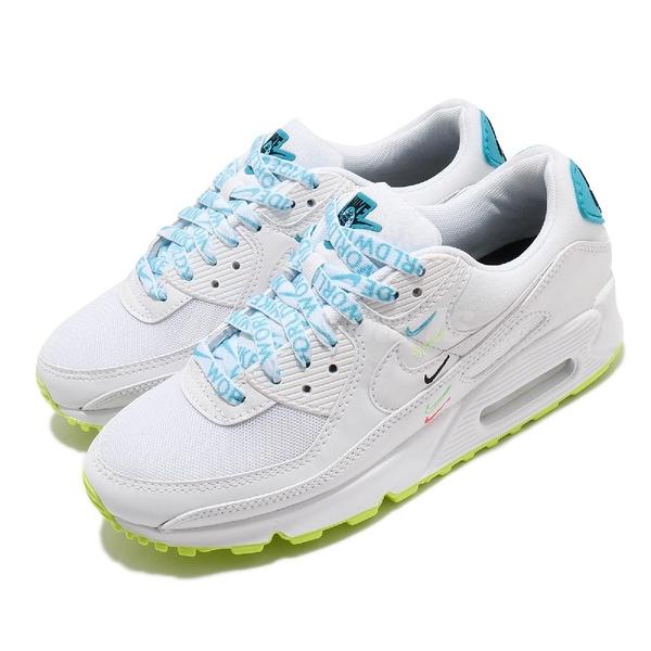 Nike 休閒鞋 Wmns Air Max 90 Worldwide 白 藍 女鞋 氣墊 運動鞋【PUMP306】 CK7069-100