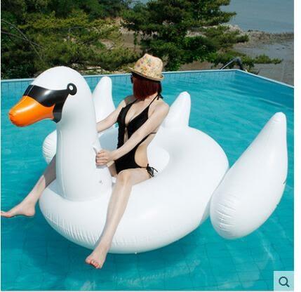 成人充氣浮床坐騎大游泳圈LVV867【kikikoko】