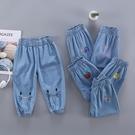 女童牛仔褲 女童天絲棉長褲軟兒童牛仔褲子女寶寶褲夏季束腳褲子夏天薄款-Ballet朵朵