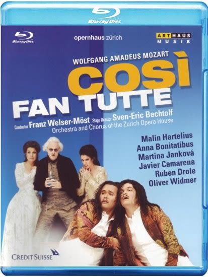【正版全新DVD清倉 4.5折】COSÌ FAN TUTTE Wolfgang Amadeus Mozart (藍光BD)