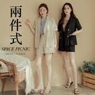 短袖 套裝 Space Picnic|兩件式-雙排釦外套+單釦短褲(現+預)【C20053076】
