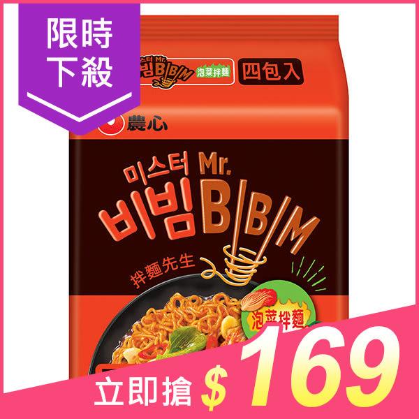 韓國 農心 泡菜拌麵118gx4包(整袋裝)【小三美日】團購/泡麵 原價$189