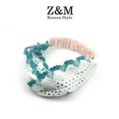 ZM春夏新品兒童發帶鏤空花邊女寶寶發箍飾品手工發飾女士親子