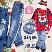 【封館5折】帥氣男孩牛仔褲企劃~刷色束口牛仔長褲-聖誕新年(300729)