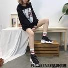 FINDSENSE品牌 四季款 新款 日本 女 高品質 個性 厚底增高 舒適 鯊