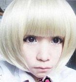 【WDK】 W119時尚 米白色 創新假髮 米白色短髮 齊流海 時尚日韓bobo頭假髮