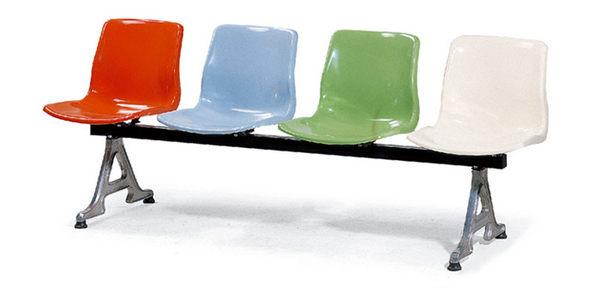 [ 家事達]台灣OA-668-15 FRP 排椅(4人座)  特價--限送台中市/苗栗/彰化/南投縣市