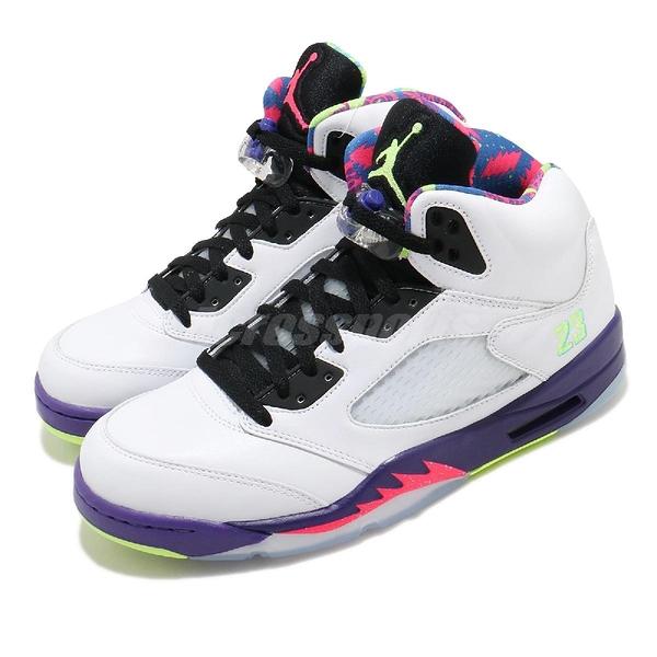 Nike Air Jordan 5 Retro Alternate Bel-Air 白 彩色 男鞋 新鮮王子 鴛鴦 AJ5 喬丹 籃球鞋【ACS】 DB3335-100