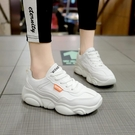 老爹鞋新款網紅新款女小白鞋ins潮百搭厚底2020春季運動休閒單鞋 蘿莉小腳丫