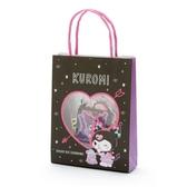 小禮堂 酷洛米 日製 手提紙袋造型貼紙組 手帳貼紙 卡片貼紙 裝飾貼紙 (黑紫) 4550337-95035