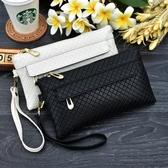 長夾/手拿包 2020新款細格紋手拿包女士大容量零錢手機包夏季韓版百搭小包包潮