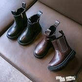 2021年春秋新款兒童靴子時尚英倫女童馬丁靴軟底輕巧黑色男童單靴 夏季新品