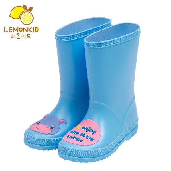 Lemonkid 檸檬寶寶 兒童 雨鞋 純色 動物 PVC 男女款 LE080117