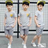 男童套裝短袖2019夏裝新款兒童8韓版11-13周歲中大童兩件套潮 JY3533【潘小丫女鞋】