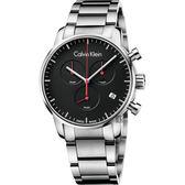 Calvin Klein CK City 都會紳士計時手錶-黑/43mm K2G27141
