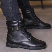 森雅誠品 秋季男士馬丁靴英倫黑色皮靴日韓百搭高筒鞋男中筒軍靴潮流短靴男