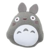 〔小禮堂〕宮崎駿Totoro龍貓 迷你絨毛玩偶娃娃造型磁鐵《灰》吸鐵 4974475-66143