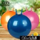 瑜伽球 成人羊角球加厚防爆跳跳球健身球65cm瑜伽球手柄球成人大號充氣球