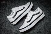 ISNEAKERS VANS OLD SKOOL 白黑 雙黑線 基本款 復古 滑板鞋 VN0A38G1NQ1