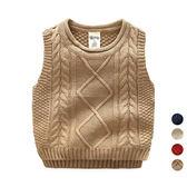 捲邊領針織背心 針織 背心 外搭 橘魔法Baby magic 現貨 兒童 童裝 男童 女童 中性款 針織毛衣