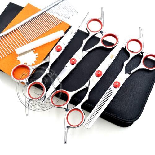 【培菓平價寵物網】dyy》寵物美容鋼製剪刀狗狗剪毛剪刀修毛剪彎剪直剪套裝工具組