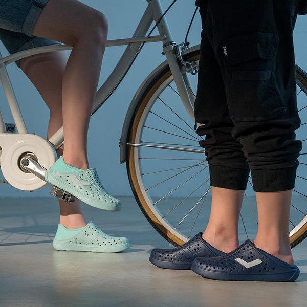 PONY 反光 後跟可踩 防水 水鞋 洞洞鞋 男女 情侶鞋 2019新款 (布魯克林) 一日爆殺