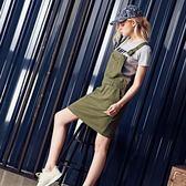 裙子 大口袋吊帶裙【PNA038】.CACO