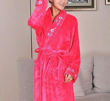 高檔法蘭絨睡袍D123