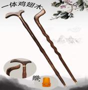 登山杖 信譽精品藤木登山杖老年人手杖復古實木一體單杖防滑結實 韓菲兒