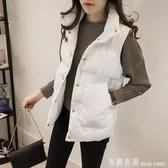 2017秋冬裝新款韓版棉衣坎肩短款時尚棉馬甲女背心馬夾外套學院風