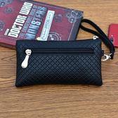 中夾包 潮包中式新款長款錢包手拿包女韓版軟皮復古高檔頭層夾包簡約