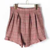 [titty&co]千鳥格紋造形短褲(紅)
