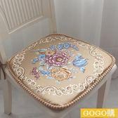 言朵歐式椅墊坐墊加厚可拆洗墊子布藝家用座墊防滑餐椅墊坐墊冬季