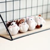 diy羊毛氈 [招財貓]蘇朵手工小動物公仔玩偶貓咪制作成人材料包 - 雙十一熱銷