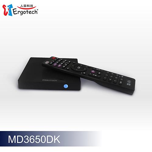 【福利品主體有細紋使用痕跡】 Ergotech 人因科技 直播盒子 MD3650 DK 4K HDR 高清 雲端 智慧電視盒