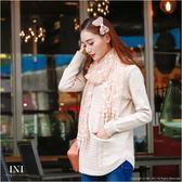 【INI FASHION】都會長版造型織紋針織上衣.二色