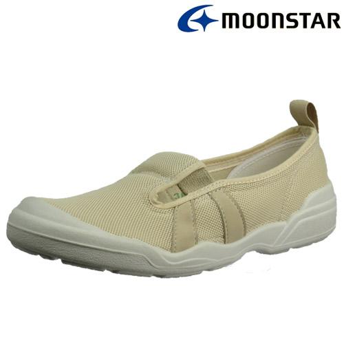 日本製造【MOONSTAR】銀離子抗菌防臭2E寬楦超舒適室內工作鞋 - 卡其(男女適用)