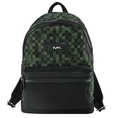 【南紡購物中心】MICHAEL KORS KENT輕量尼龍馬賽克後背包-綠