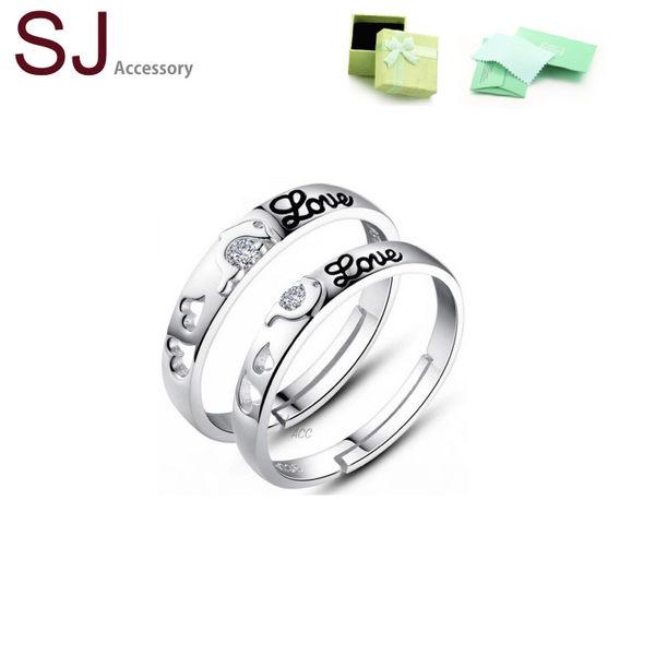 素簡手作《RS014》正白k~簡約質感開口銀戒指